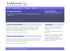 TombstoneCreator.com.Products