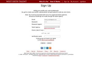 W6Talent.com.SignUp